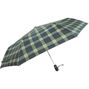 クロス 開閉ジャンプミニ傘 格子 緑 CR4111B ジャンプ 折りたたみ傘 自動開閉 雨傘|ibepara|03