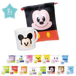 キャラクター顔柄コップ・巾着セット 288個販売 キャラクター マグカップ 子供用 お弁当 アウトドア|ibepara
