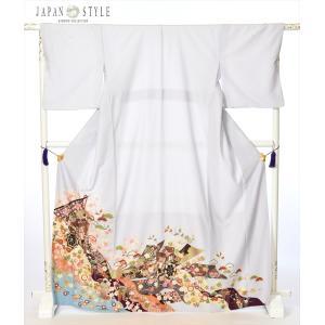 ジャパンスタイル 色留袖レンタルフルセット8AB75/比翼仕立て/三つ紋/着物/色留袖/結婚式/貸衣...