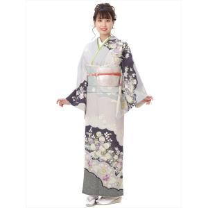 訪問着 レンタル ジャパンスタイル JAPANSTYLE フルセット モダン 紫 古典 8AD375