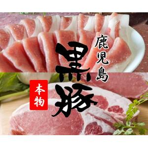 豚肉 黒豚 鹿児島 もも肉(スライス300g) ロース(とんかつ用100g×3枚)|ibusukiya