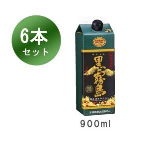 黒霧島 芋焼酎 宮崎 霧島酒造 25% 900ml 紙パック 6本セット|ibusukiya