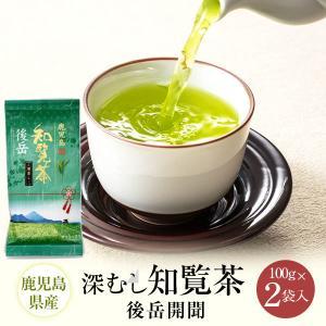 お茶 煎茶 知覧茶 深むし茶 後岳開聞 鹿児島 100g×2 緑茶 JA 茶|ibusukiya