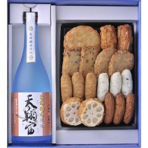 ギフト 送料無料 焼酎 芋焼酎 酒 さつま揚セット  天翔宙720ml 小田口屋 さつまあげ|ibusukiya