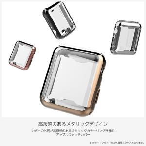 Apple watch ケース TPU シリーズ 4 5 series 3 2 アップルウォッチ カバー 44mm 40mm 42mm 38mm 耐衝撃 アップルウォッチ ケース Applewatch フルカバー|icaca|02