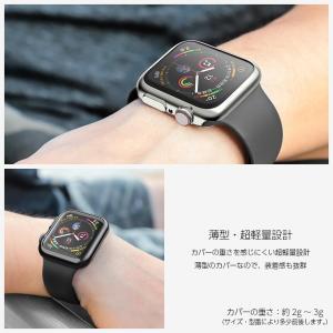 Apple watch ケース TPU シリーズ 4 5 series 3 2 アップルウォッチ カバー 44mm 40mm 42mm 38mm 耐衝撃 アップルウォッチ ケース Applewatch フルカバー|icaca|04