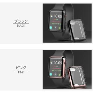 Apple watch ケース TPU シリーズ 4 5 series 3 2 アップルウォッチ カバー 44mm 40mm 42mm 38mm 耐衝撃 アップルウォッチ ケース Applewatch フルカバー|icaca|06