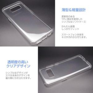 Galaxy S8 SC-02J/SCV36 ソフトケース カバー クリア TPU 透明 シンプル ギャラクシーS8 スマホケース スマホカバー docomo au softbank サムスン icaca 02