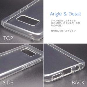 Galaxy S8 SC-02J/SCV36 ソフトケース カバー クリア TPU 透明 シンプル ギャラクシーS8 スマホケース スマホカバー docomo au softbank サムスン icaca 03