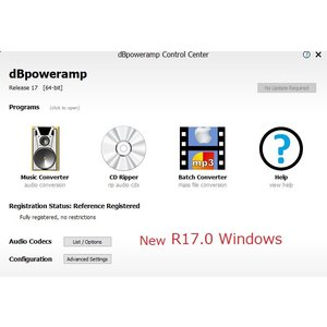 dBpoweramp Music Converter R16.6 Windows版 CDリッピングソ...