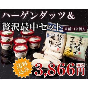 ギフト アイス ハーゲンダッツ&桜庵贅沢最中セット 5種・12個入 送料無料|ice-ouan