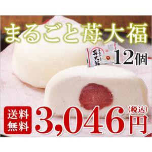 まるごといちご大福アイスクリーム(12個入り)(送料込)|ice-ouan