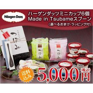 ギフト アイス ハーゲンダッツ ミニカップ6個&つぼみ6個&Made in TSUBAMEアイススプーンセット(送料込)(ラッピング付)|ice-ouan