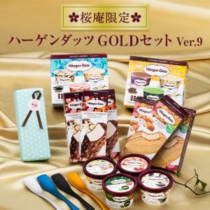 お中元 ギフト 2021 プレゼント ハーゲンダッツ GOLDセット&Made in TSUBAMEアイススプーン4個セット (ver.8)送料無料(ラッピング付)(10種・24個入り)|ice-ouan