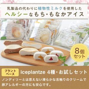 iceplantze4種・お試しセット(送料無料)(ラッピング不可)(プラントベースアイス 乳・卵アレルギーの方も安心) ice-ouan