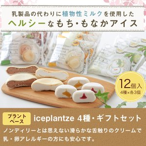 iceplantze4種・ギフトセット【送料無料】【化粧箱】【プラントベースアイス|乳・卵アレルギーの方も安心】|ice-ouan