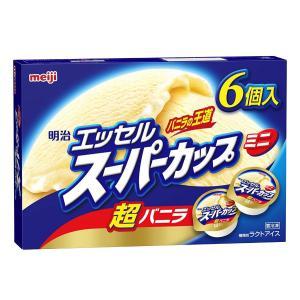 【明治】アイスクリーム エッセルスーパーカップミニ 超バニラ 90ml×6×8個