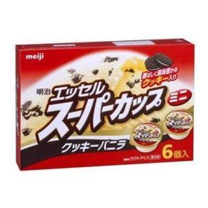 【明治】アイスクリーム スーパーカップ ミニクッキーバニラ 90ml×6個×8個