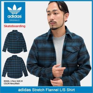 アディダス adidas シャツ 長袖 メンズ ストレッチ フランネル オリジナルス(Stretch Flannel L/S Shirt Originals 男性用 BR7933)|icefield