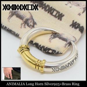 アニマリア ANIMALIA リング メンズ ロング ホーン シルバー925×ブラス(animalia Long Horn Silver925×Brass Ring 指輪 アクセサリー)|icefield