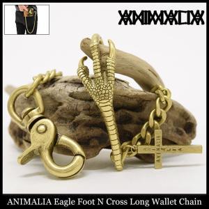 アニマリア ANIMALIA ウォレットチェーン イーグル フット N クロス ロング(animalia Eagle Foot N Cross Long Wallet Chain 小物)|icefield