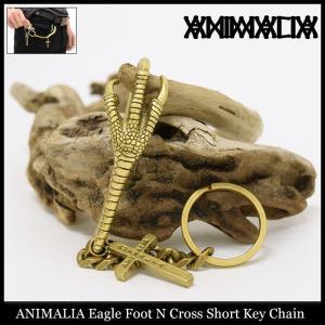 アニマリア ANIMALIA キーホルダー イーグル フット N クロス ショート キーチェーン(animalia Eagle Foot N Cross Short Key Chain 小物)|icefield