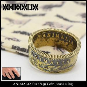 アニマリア ANIMALIA リング メンズ CA 1849 コイン ブラス(animalia CA 1849 Coin Brass Ring 指輪 メンズジュエリー アクセサリー)|icefield