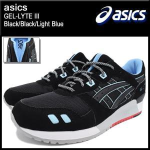 アシックス asics スニーカー メンズ 男性用 ゲルライト 3 Black/Black/Light Blue(ASICS Tiger GEL-LYTE III H637Y-9090 TQ637Y-9090)|icefield