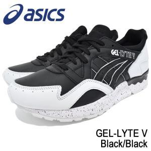 アシックス asics スニーカー メンズ 男性用 ゲルライト 5 Black/Black(ASICS Tiger GEL-LYTE V ランニンシューズ ブラック H6Q1L-9090)|icefield