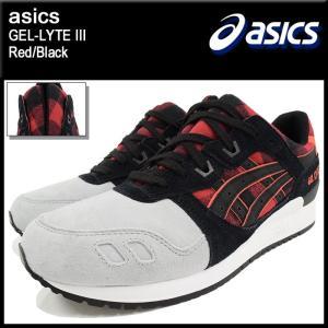 アシックス asics スニーカー メンズ 男性用 ゲルライト 3 Red/Black(ASICS Tiger アシックスタイガー GEL-LYTE III H6Y0L-2490 TQ6Y0L)|icefield