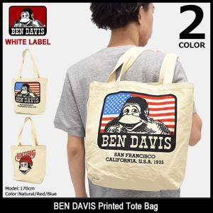 ベンデイビス BEN DAVIS トートバッグ プリンテッド ホワイトレーベル(BDW-9101 Printed Tote Bag WHITE LABEL エコバッグ キャンバス)|icefield