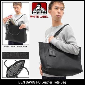 ベンデイビス BEN DAVIS トートバッグ PU レザー ホワイトレーベル(BDW-9136 PU Leather Tote Bag WHITE LABEL メンズ レディース)|icefield
