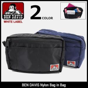 ベンデイビス BEN DAVIS ケース ナイロン バッグ イン バッグ ホワイトレーベル(BDW-9189 Nylon Bag in Bag WHITE LABEL クラッチバッグ) icefield