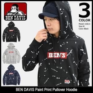 ベンデイビス BEN DAVIS プルオーバー パーカー メンズ ペイント プリント(BENDAVIS M-8380030 Paint Print Pullover Hoodie トップス)|icefield