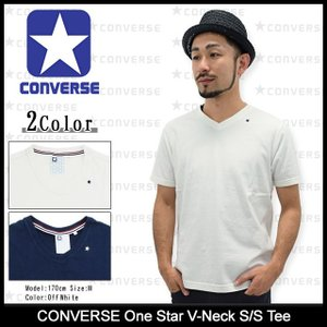 コンバース CONVERSE Tシャツ 半袖 メンズ ワン スター(One Star V-Neck S/S Tee Vネック T-SHIRTS トップス メンズ 男性用 MB5STS0010)|icefield