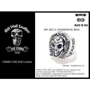 【5月中旬入荷予定&受注生産】クライミー CRIMIE×BILL WALL LEATHER BW スカル ホースシュー リング コラボ(BW Skull Horseshoe Ring)|icefield