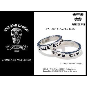 【5月中旬入荷予定&受注生産】クライミー CRIMIE×BILL WALL LEATHER BW シン スタンプ リング コラボ(BW Thin Stamped Ring)|icefield