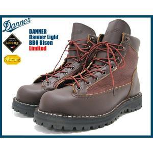 ダナー Danner ダナーライト ブーツ バイソン茶レザー MADE IN USA ゴアテックス リミテッド メンズ(男性 紳士用 30083X)|icefield