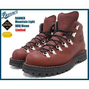 ダナー Danner マウンテンライト ブーツ バイソン茶レザー MADE IN USA ゴアテックス リミテッド メンズ(男性 紳士用 30815X)|icefield