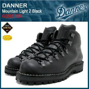 ダナー Danner マウンテンライト 2 ブーツ 黒レザー MADE IN USA ゴアテックス メンズ(30860X Mountain Light 2 Black GORE-TEX)|icefield