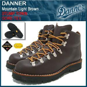 ダナー Danner マウンテンライト ブーツ ブラウン スタンプタウン MADE IN USA ゴアテックス メンズ(30866 STUMP TOWN GORE-TEX)|icefield