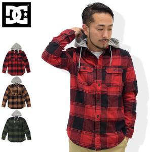 ディーシー DC シャツ 長袖 メンズ ランネル フーデッド(dc Runnel Hooded L/S Shirt カジュアルシャツ トップス 男性用 EDYWT03162)|icefield