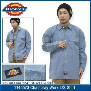 【55%OFF】ディッキーズ Dickies 1145573 シャンブレー ワークシャツ 長袖 メンズ(DICKIES dickies 1145573 Chambray Work L/S Shirt トップス) icefield
