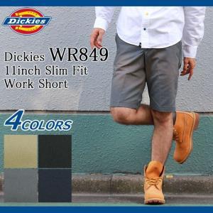 ディッキーズ Dickies ハーフパンツ メンズ 11インチ スリム フィット ワーク ショーツ(DICKIES WR849 11inch Slim Fit Work Short WR849) icefield