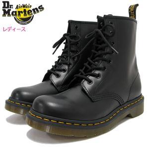 ドクターマーチン Dr.Martens ブーツ 8ホール レディース 女性用 ウィメンズ 1460 8アイ ブーツ ブラック(WOMENS 8 EYE BOOT R11821006)|icefield