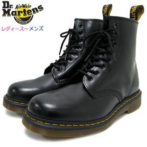 ドクターマーチン ブーツ Dr.Martens 8ホール レディース & メンズ 1460 8アイ ブーツ ブラック(1460 8 EYE BOOT Black R11822006)