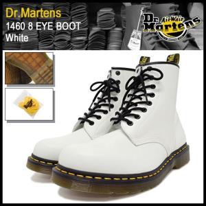 ドクターマーチン Dr.Martens 1460 8アイ ブーツ ホワイト メンズ(dr.martens DR.MARTENS 1460 8 EYE BOOT White 8ホール R11822100)|icefield