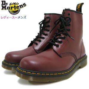 ドクターマーチン Dr.Martens ブーツ 8ホール レディース & メンズ 1460 8アイ ブーツ チェリーレッド(8 EYE BOOT Cherry Red R11822600)|icefield
