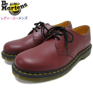 ドクターマーチン Dr.Martens ブーツ 3ホール レディース & メンズ 1461 3アイ ギブソン シューズ チェリーレッド(GIBSON SHOE R11838600)|icefield