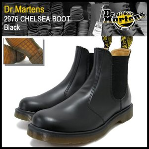 ドクターマーチン Dr.Martens 2976 チェルシー ブーツ ブラック メンズ(DR.MARTENS 2976 CHELSEA BOOT Black サイドゴア R11853001)|icefield